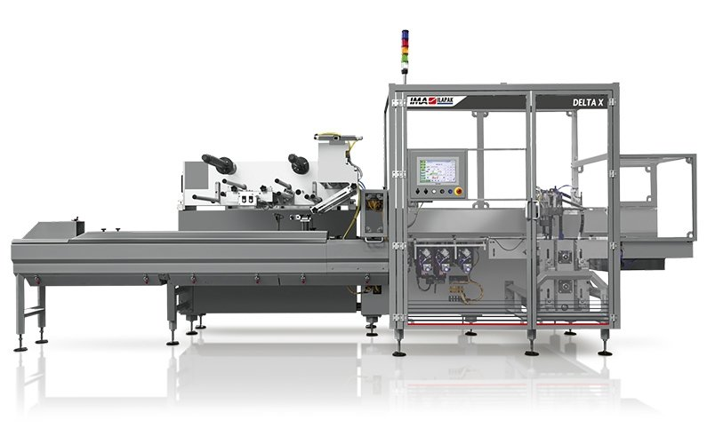 Ima Ilapak Horizontal packaging solution flow pack machine for high speed hermetic sealing jaws