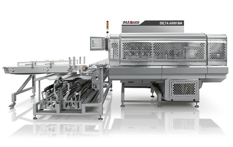 Ima Ilapak Delta 6000 BM horizontal flow wrap form fill and seal flow wrapper packaging machine with film from bottom for meat industry